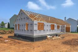 New construction build progress