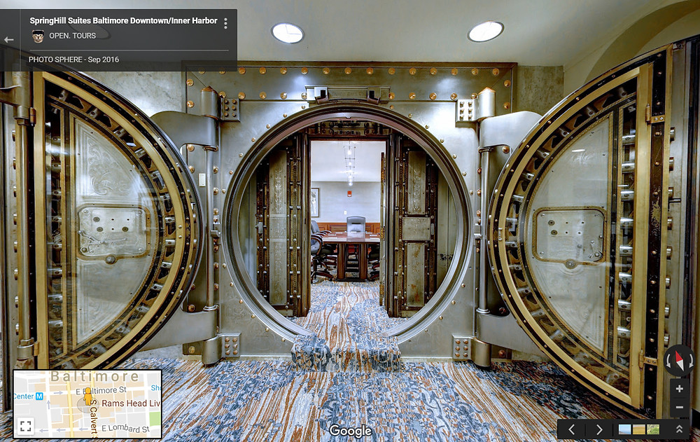 bank vault at the springhill suites of downtown baltimore, md