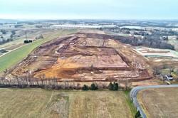 Construction site progress update