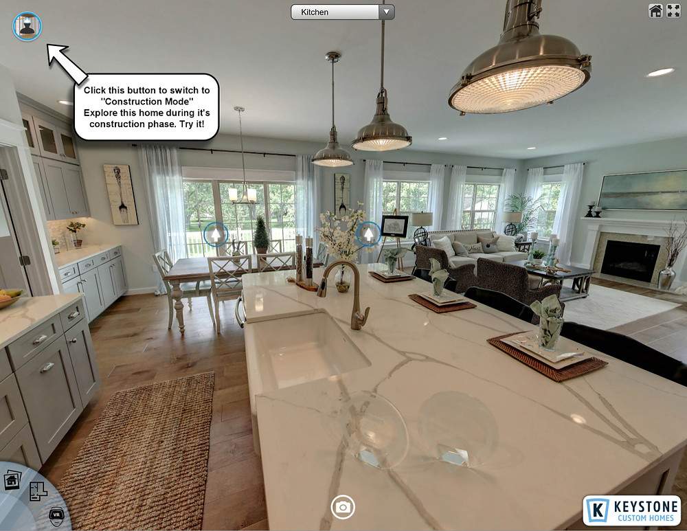 Real Estate Virtual House Tour for Keystone Custom Homes