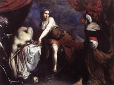 Fig. 6, Francesco Furini, Judith et Holopherne, (1636), Toile, 116 cm x 151 cm, Rome, Galleria Nazionale d'Arte Antica (Palazzo Barberini)