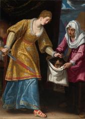 Fig. 5 Matteo Rosselli, Judith et Holopherne, Toile, 189 cm x 140 cm, collection privée