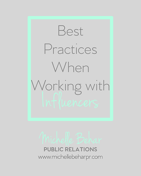 Best Practices for Working with Influencers | Home | Michelle Behar