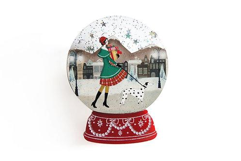 Broche bola de nieve - compras de Navidad