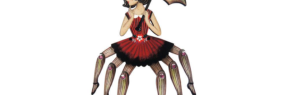 Broche Mujer araña