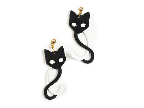 Two-Tailed Cats Earrings
