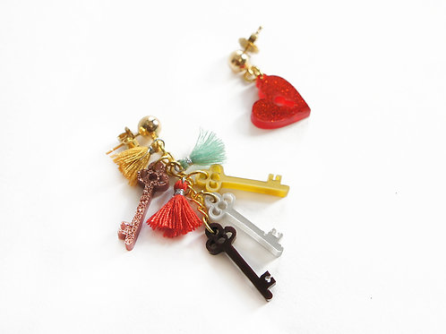 Keys of Heart Earrings