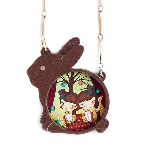 Rabbit Place-Balls Necklace