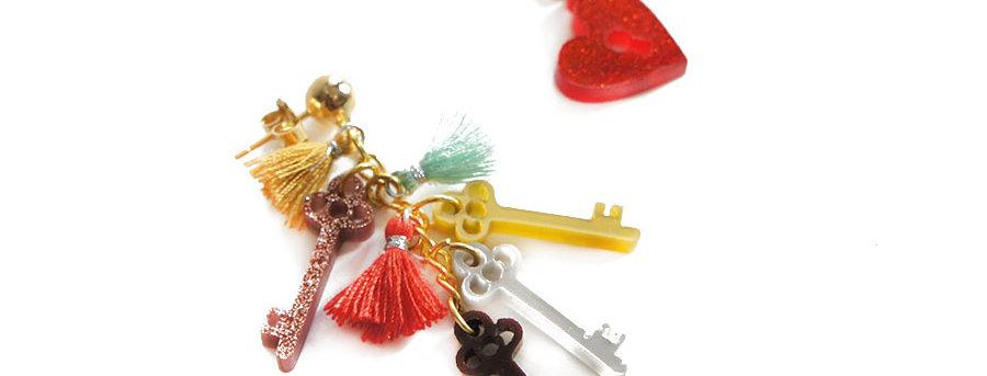 Pendientes Las llaves del corazón