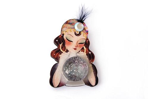 Broche Pitonisa con bola de cristal
