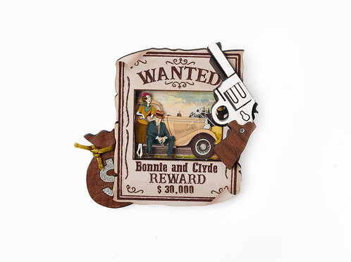 Broche Bonnie and Clyde