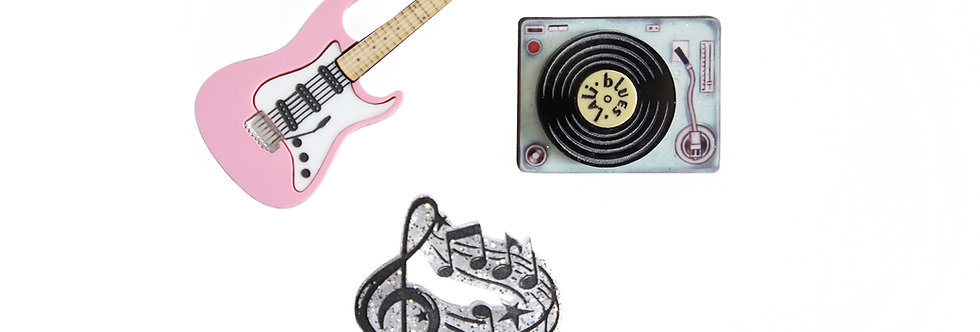 Pack de 3 broches Rock and Roll