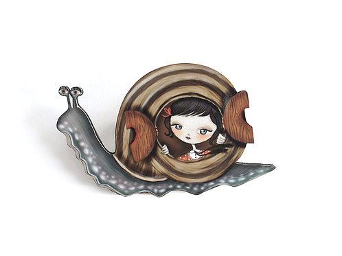 Snail House  Necklace/Brooch