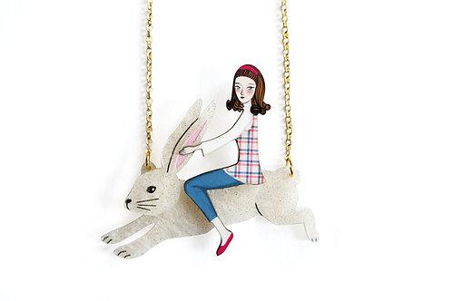 Collar Chica Jinete de Conejo