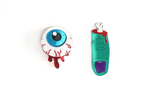 Pendientes Ojo y Dedo Zombie
