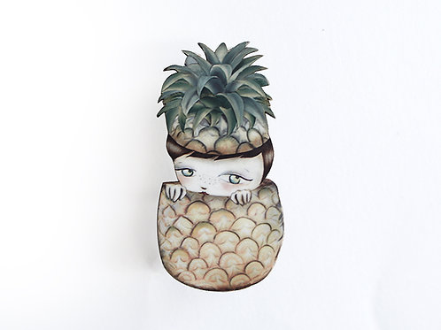 Pineapple Necklace/Brooch
