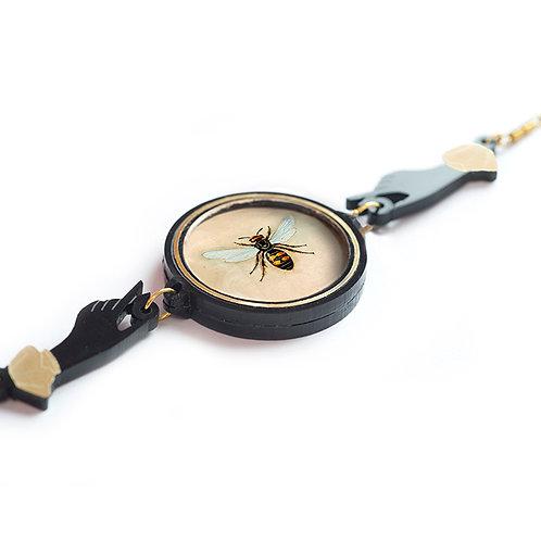Bee Thaumatrope Necklace