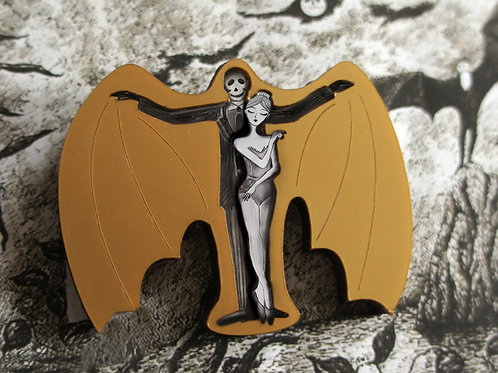 The Gilded Bat. Brooch or Necklace
