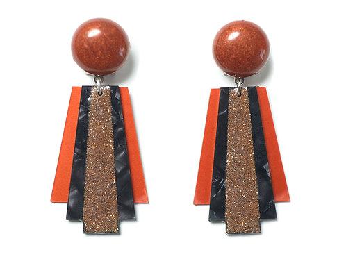 Deco Moon Earrings