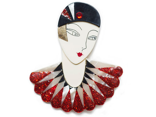 Broche Flapper Marion