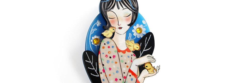 Broche chica con Polluelos