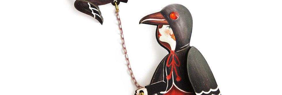 Broche Chica cuervo