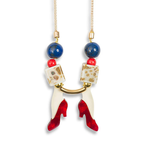 Red Shoes Necklace