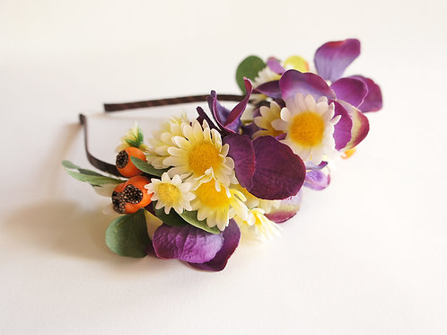 Diadema floral silvestre