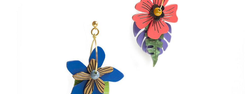 Pendientes Flores