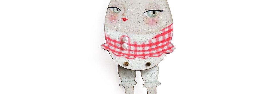 Broche Chica huevo