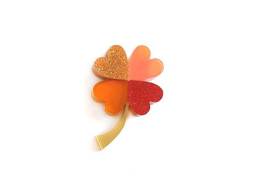 Four-Leaf Clover Brooch