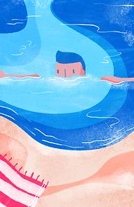 Иллюстрированный пловец