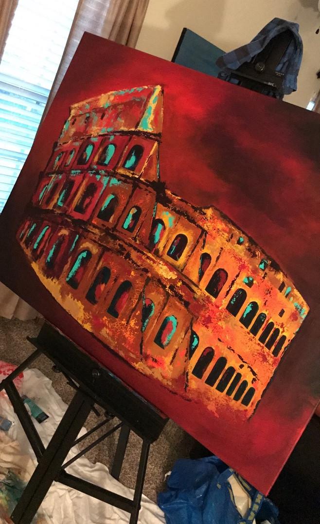 """Rome"" 2017. 36x48"""