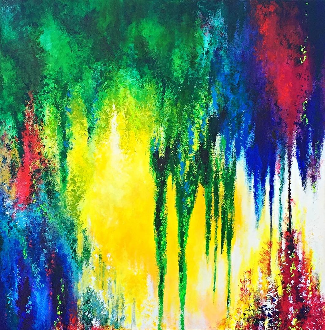 """Rebirth"" 2016. 36x36"" SOLD"