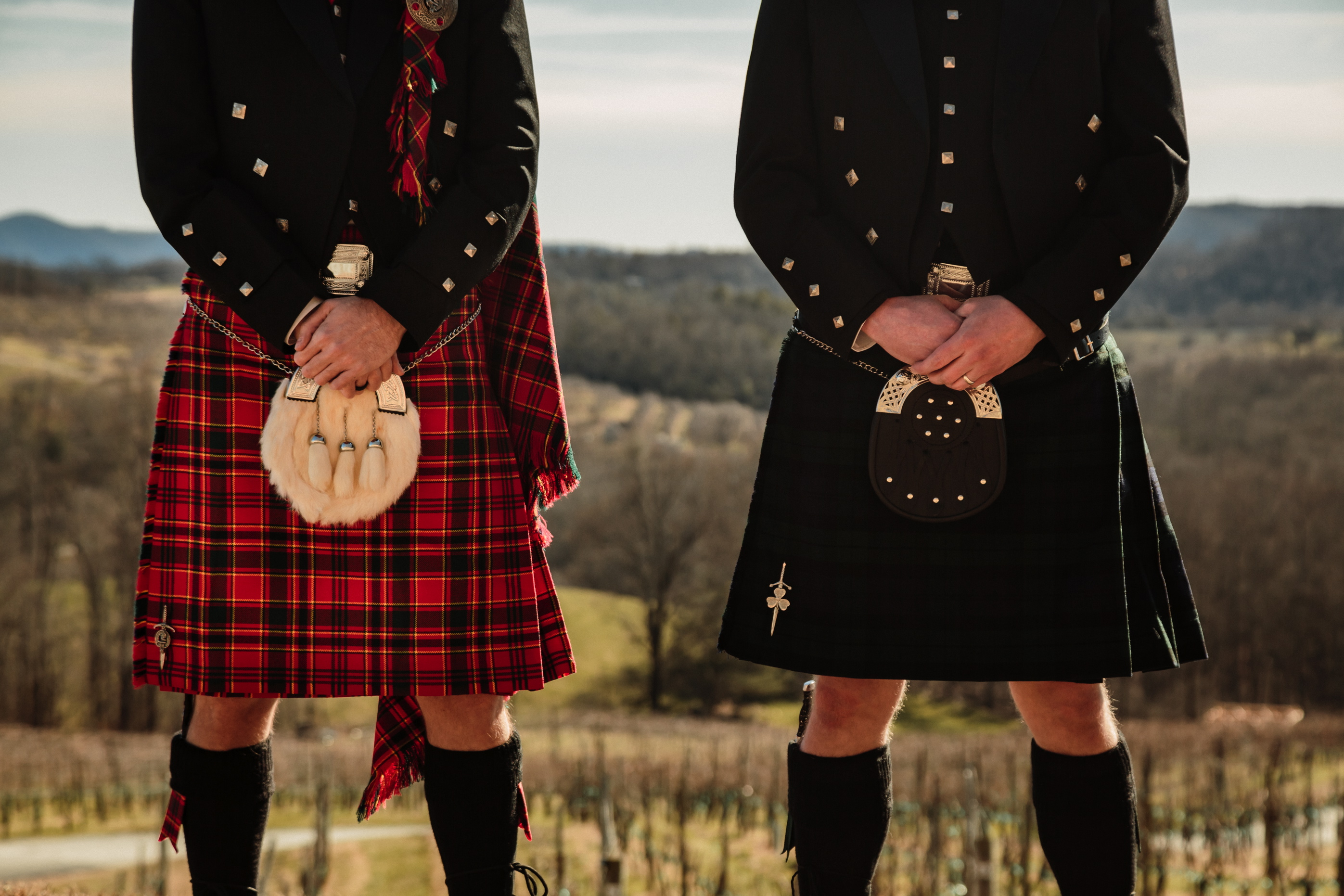 Scottish wedding outfit