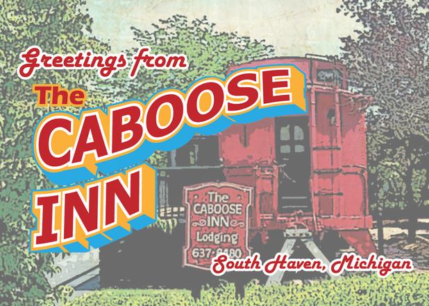 Caboose Inn Postcard
