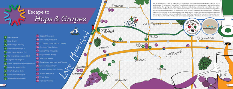 Southwest Michigan Beer and Wine Map