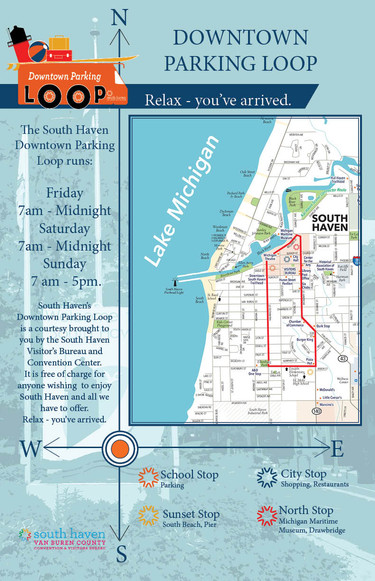 South Haven Downtown Parking Loop Map