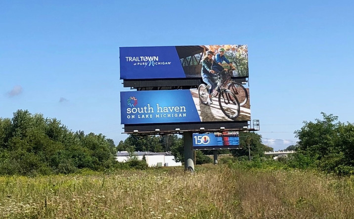 Billboard on Interstate 96