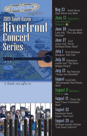 South Haven Riverfront Concert Series Poster 2019