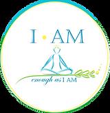 I Am Enough as I Am logo - final white c