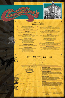 Clementine's Menu Sample