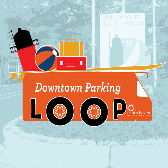 South Haven Downtown Parking Loop Logo