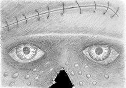 MASK-E-RADE Frankenstein's monster concept sketch