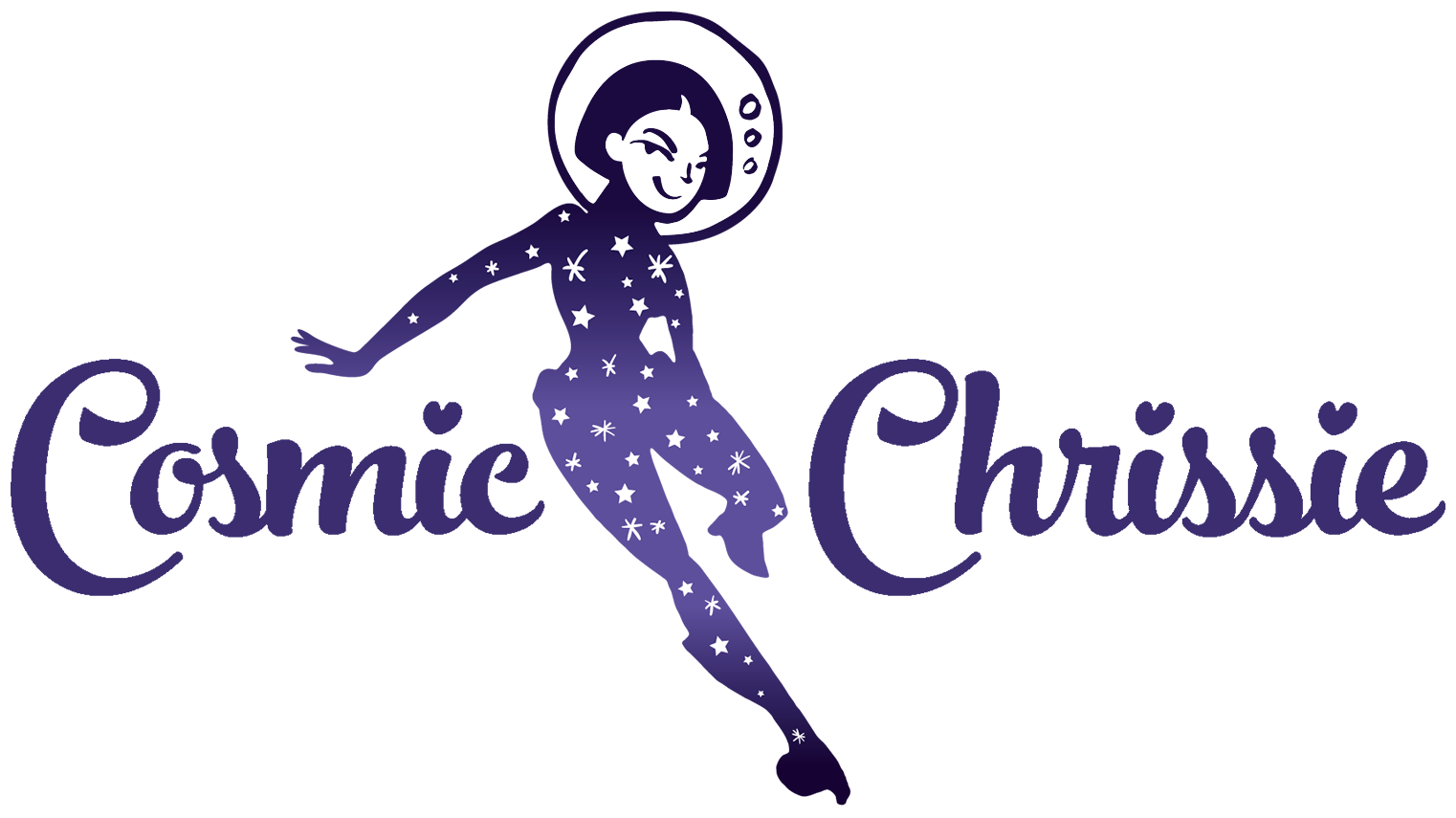 Cosmic Chrissie client character logo