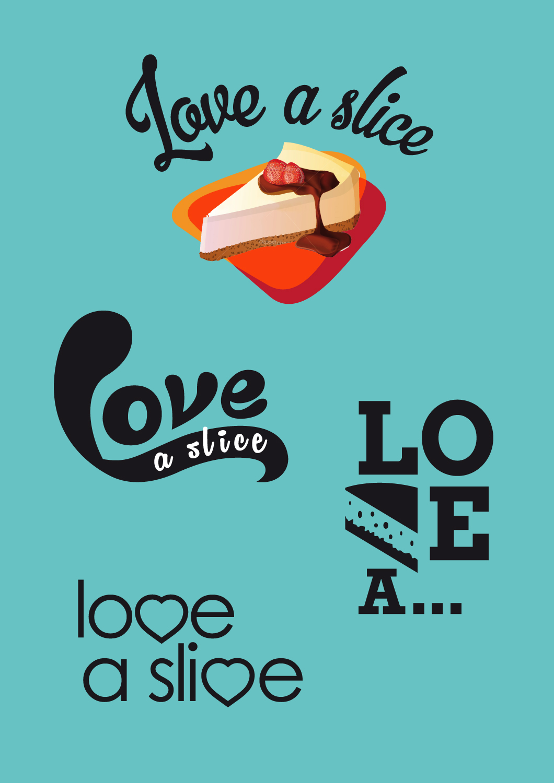 Love a slice concept logos