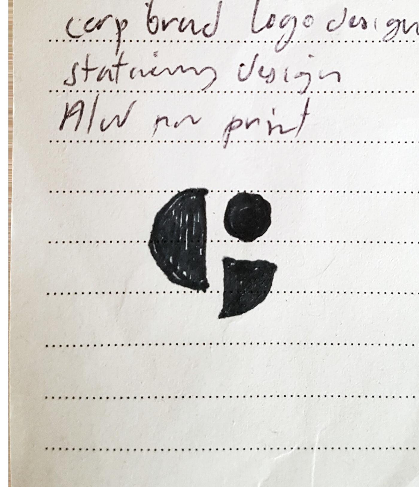 GAVIN MONOGRAM initial sketch