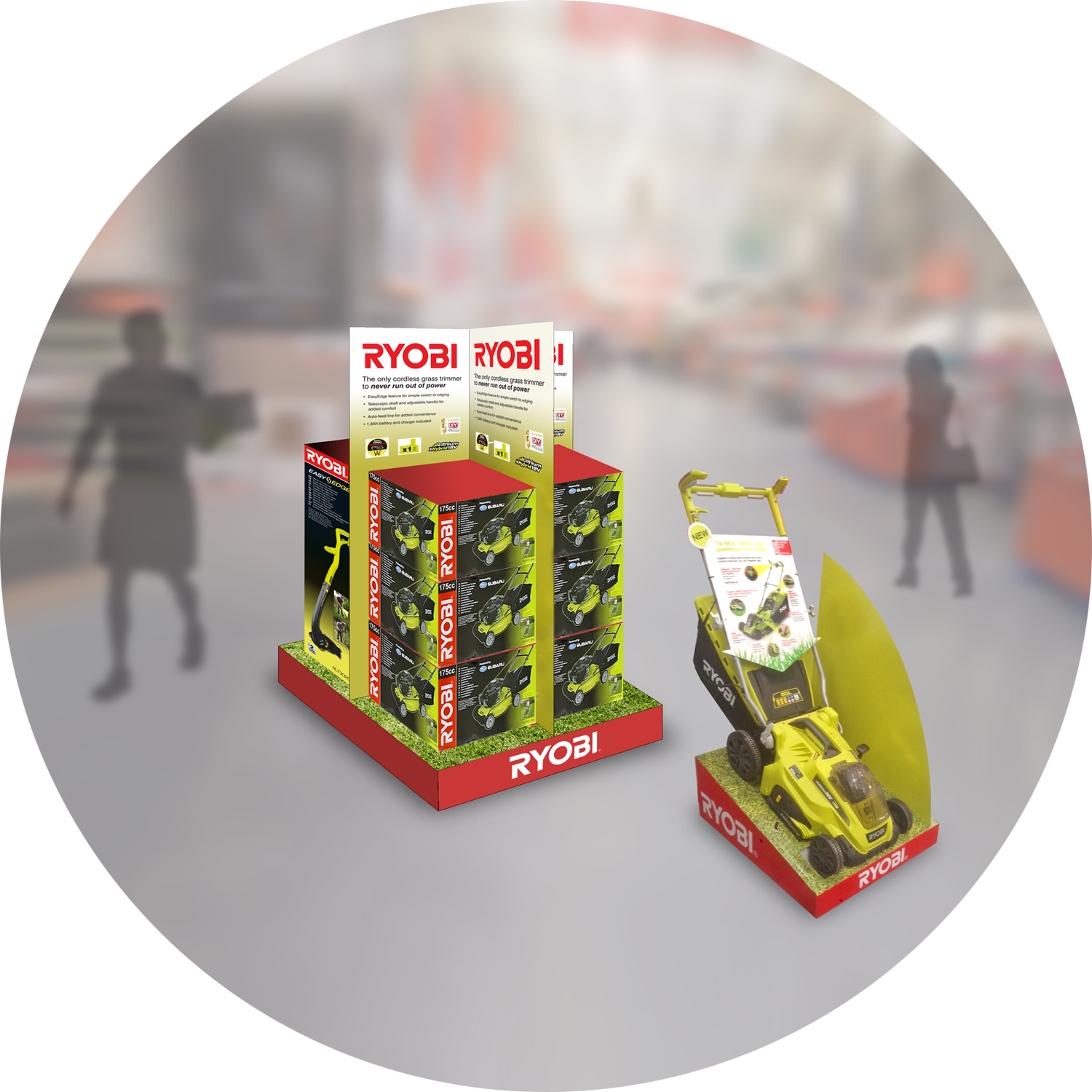 RYOBI point of sale for B&Q