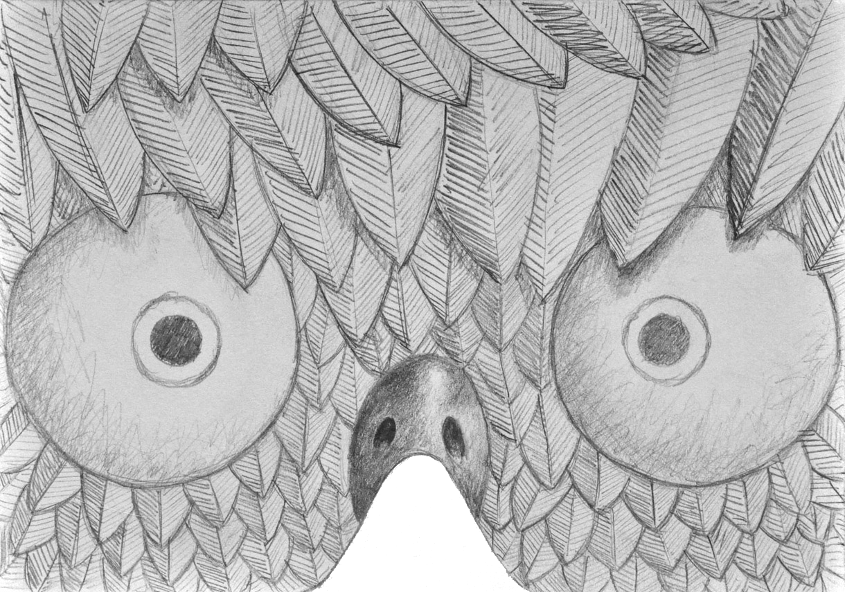 MASK-E-RADE Easter chick concept sketch