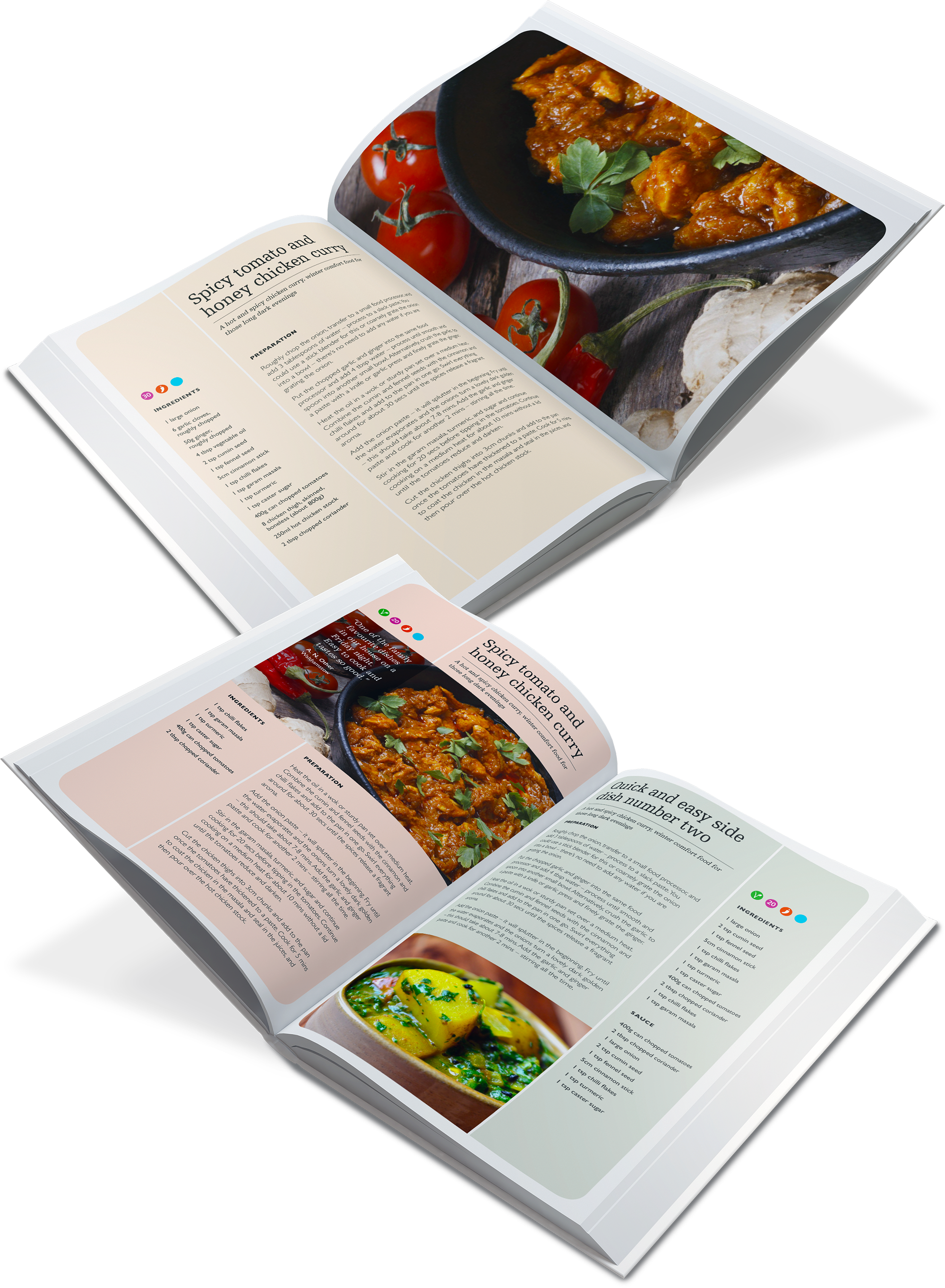 Recipe book produced by local comunity suppliers and residents
